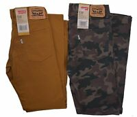 Levis Jeans Boy's $48 510 Skinny Fit Stretch Pants Camo or Gold Choose Size