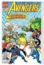 AVENGERS #350 (8/92)--NM /68 pgs; X-Men-app; Buscema, Epting-a; Gatefold cover^