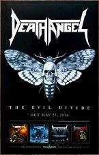 DEATH ANGEL The Evil Divide 2016 Ltd Ed RARE New Poster +FREE Metal Rock Poster!
