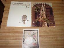 EASY Macrame PATTERN Books Pat Depke Book 1 & Pot Hangers + old stitchery catalo