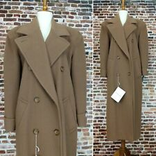 Lamb's Wool Coat Womens 8 M Ladies Preston & York Double Breasted Tan Trench NWT