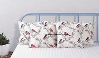 "16"" Vintage Bird Cotton Pillow Case Soft Throw Cushion Cover Home Decor Indian"