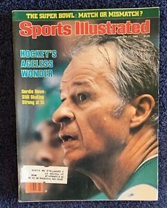 1.21.80 GORDIE HOWE Sports Illustrated RED WINGS WHALERS NHL HOCKEY - SUPER BOWL