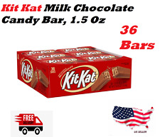 Kit Kat Milk Chocolate Candy Bar, 1.5 Oz Bars Pack of 36 Free Priority Shipping