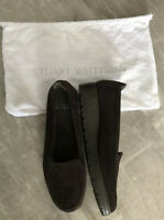Stuart Weitzman womens brown suede loafers size 8.5 medium