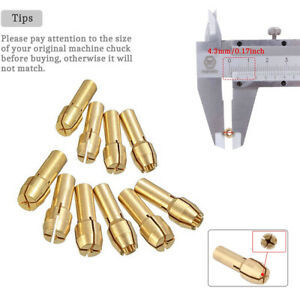1.6-3.2mm Brass Drill Chuck Collet Bits Shank 4.3mm For Dremel Rotary Tool