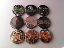 9 Carcass Pin Button badges 25mm Grindcore Death Metal Banned covers Heartwork