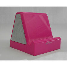 Universal Audio Speaker W/stand for Tablet, iPhone, and most mobile Phones(Pink