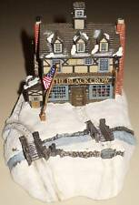VINTAGE 1995 CHARLES WYSOCKI  EVENING SLED RIDE HAWTHORNE VILLAGE SCULPTURE.