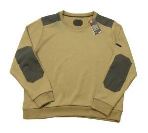 Under Armour Men's Brown UA Unstoppable Textured Crew-Neck Pullover Sweatshirt