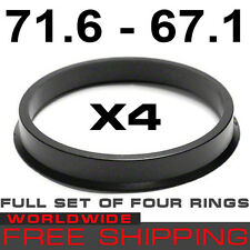 HUB CENTRIC RINGS 71.6 - 67.1mm(SET OF 4 RINGS) 71,6mm- 67,1 mm free WORLD shipp
