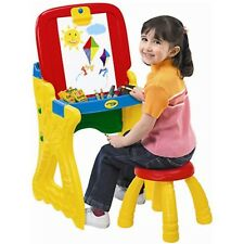 2-in-1 Art Studio Easel Play 'N Fold Kids Craft Toys Children Playing Area Games