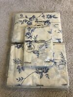 Vintage jC Penney Full Sheet Set Floral Arbor  No Iron Percale 180 Threads