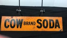 Original Cow Brand Soda Tin Sign Tin Tacker