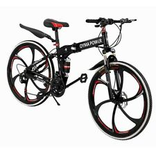 Mountain Bike Folding 21 Speed Double Disc Brake Carbon Steel Outroad Bicycles