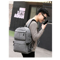 School Bag With USB Charger Port Anti Theft Business Travel Backpack Laptop Book
