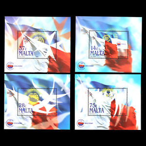 Malta 2005 - Flags of Malta Commonwealth Heads of Governments - Sc 1228/31 MNH