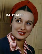 005 PATRICIA MORISON BEAUTIFUL COLOR PORTRAIT IN RED TURBAN PHOTO