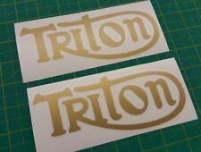 Triton Triumph Norton Bonneville Commando restauration Panel decals stickers