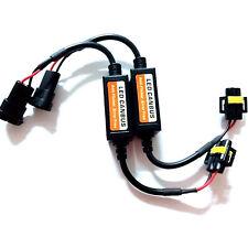 H11 LED Error Canceler Anti No Flicker Capacitor Headlight Canbus Fix Plug Pair