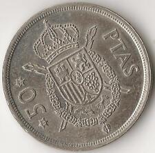 España, 50 pesetas 1975 (* 79) Cat. no. KM809, cobre-níquel
