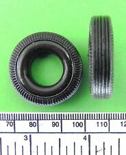 Scale type model wheels - 30 x 7 mm  - rubber tire/metal hub - 4 pcs