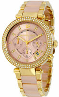 Michael Kors MK6326 Parker Pink Dial Gold Tone Stainless Steel Ladies Watch