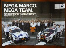 3 Stück Poster BMW Marco Wittmann Mega Team DTM BMW Motorsport Racing 2014