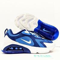 Nike Air Max 200 Men's Running Blue White Training Gym Lifestyle  AQ2568-400