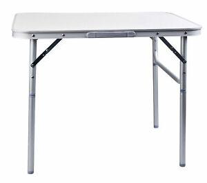 Alu Klapptisch höhenverstellbar 75x55 cm - Camping Tisch Picknick Tisch Alutisch