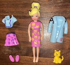 Rare Htf Polly Pocket Cool Careers Teacher Veterinarian Vet with Cat