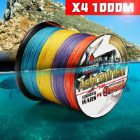 6LB-100LB PE Braided Fishing Line 4 Strands Multifilament PE Line 1000M PE Line