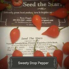 25+ Sweety Drop Pepper Seeds. Pimenta Biquinho, Little Beak, Capsicum chinense.