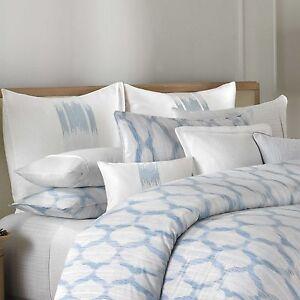BARBARA BARRY Alpen Stitch Delft Standard Queen PILLOW SHAM White Blue