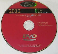 2012 Ford Mustang, Gt, Cobra Fabrik Reparatur Shop Werkstatt Handbuch Dvd-Rom
