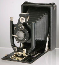 antique 9x12 plate camera_very rare German Oretar Doppel Anastigmat lens_folding