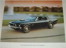 1969 Ford Mustang 428 SCJ Convertible car print (black, black top)