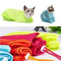Pet Cat Kitten Grooming Nail Clipping Bathing Restraint Mesh Bag No Bite Scratch