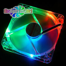 EVERCOOL 120mm x 25mm 4 Color LED Crystal Fan BLUE, RED, ORANGE, GREEN! 3+ 4 Pin