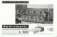 """Publicité Ancienne """" Canapé Américain Hydramatic """"  ( P. 25 )"""