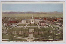 DENVER CO NEW COURT HOUSE * CITY HALL & CIVIC CENTER OLD UNUSED POSTCARD PC6201