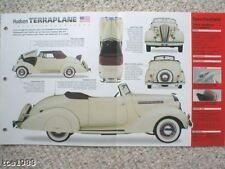 1936 Hudson TERRAPLANE SPEC SHEET/ Brochure/Catalog