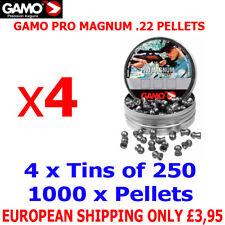 GAMO PRO MAGNUM .22 Airgun Pellets 4(tins)x250pcs