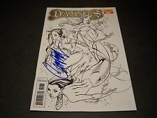 SIGNED J SCOTT CAMPBELL DAMSELS #1 INKS ART B/W 1:20 VARIANT HOT FAIRY TALES!