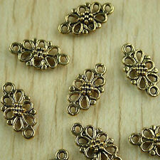 30pcs dark gold-tone flower charms findings h1492