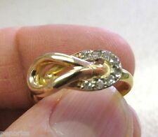 Estate Ring 14K Small Diamond Knott