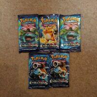 5 Pokemon TCG XY Evolutions Sealed Booster Packs NEW GENUINE