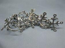 RONDS DE SERVIETTE Set de 6 pièces métal Nickel Argent 4 cm diamètre