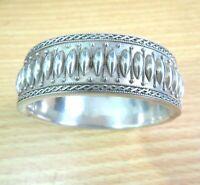 Vintage Sterling Silver Bangle Bracelet Hinged