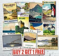 Vintage Irish Ireland Eire Travel Railway LNER GWR LMS Retro Posters A5/A4/A3